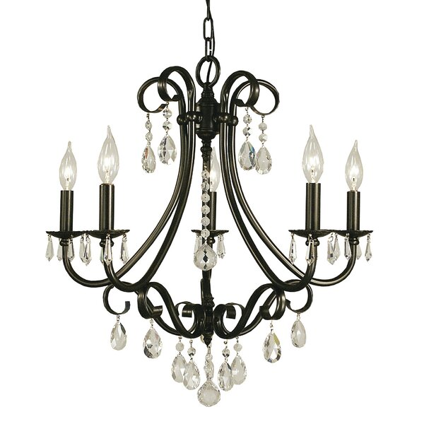 Mallie 5 - Light Candle Style Empire Chandelier By Astoria Grand