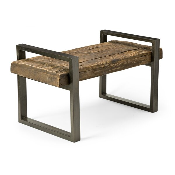 Reclaimed Wood and Iron Outdoor Garden Bench by Plow & Hearth