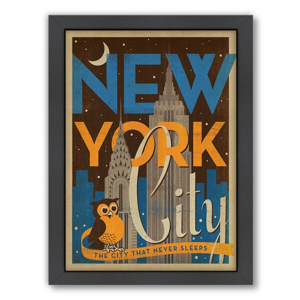 New York City Night Owl Framed Vintage Advertisement by East Urban Home