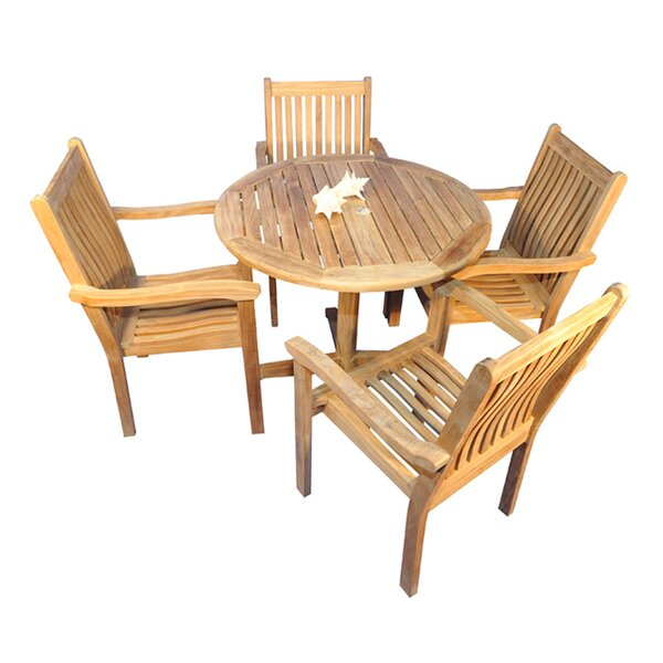 Virginia 5 Piece Teak Dining Set by Regal Teak
