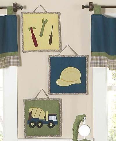 3 Piece Construction Zone Hanging Art Set by Sweet Jojo Designs
