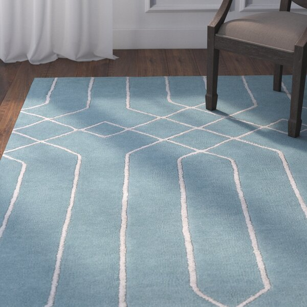 Rainsburg Hand-Tufted Teal/Taupe Area Rug by Darby Home Co