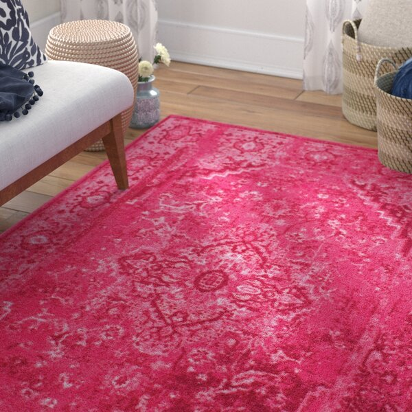 Decker Pink Area Rug by Mistana