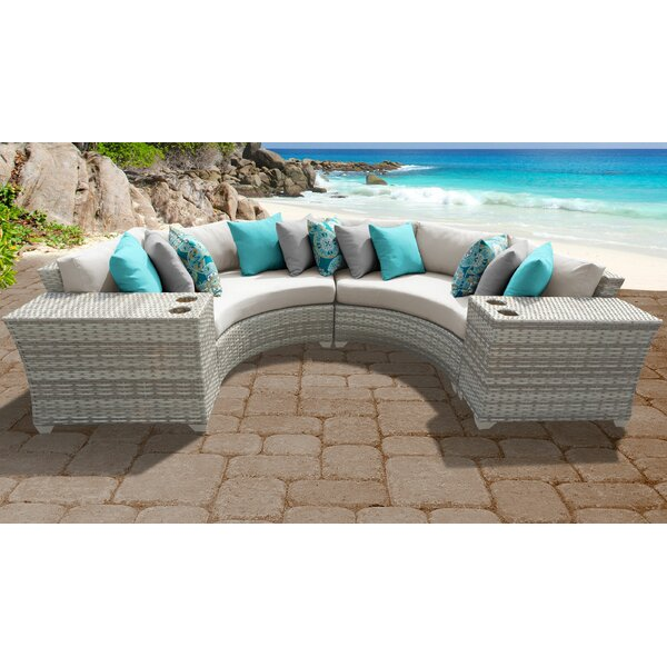Genevieve 4 Piece Sectional Seating Group with Cushions by Rosecliff Heights