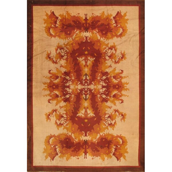 One-of-a-Kind Hand-Knotted Brown 11'6 x 16'6 Wool Area Rug