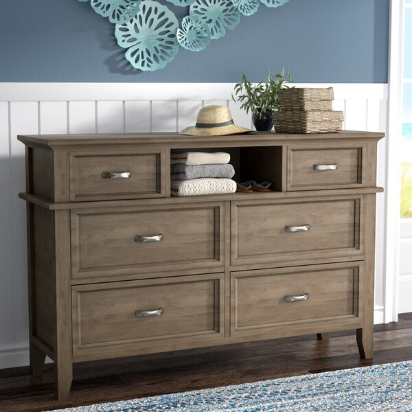 Cartwright 6 Drawer Double Dresser by Rosecliff Heights