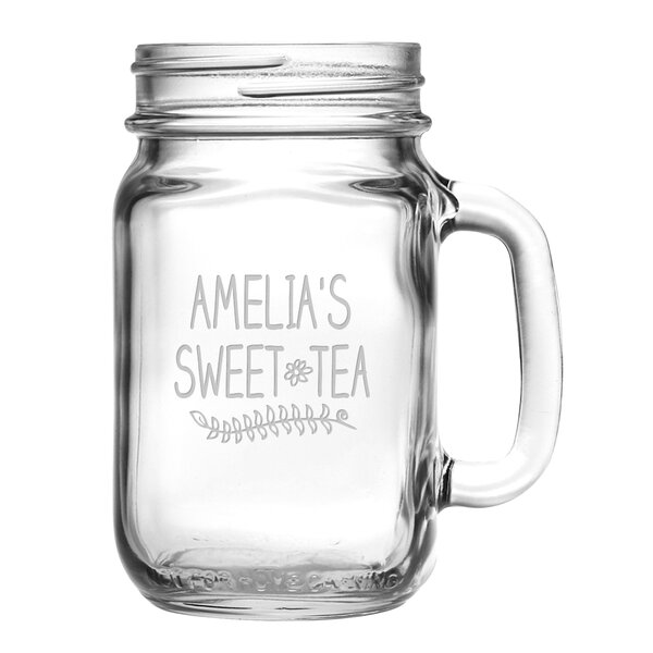 Personalized 16 Oz. Sweet Tea Drinking Jar (Set of