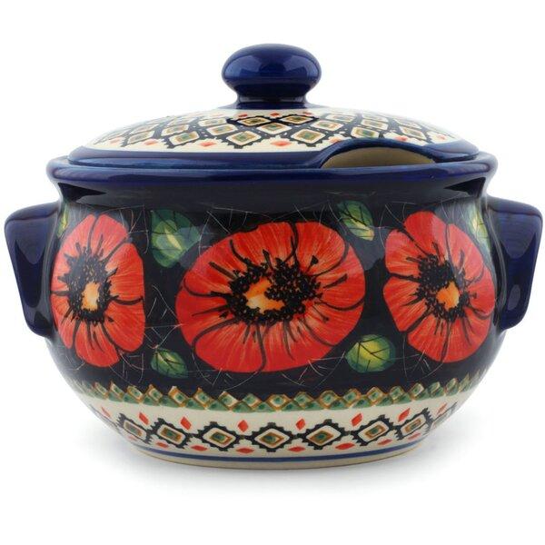 Poppy Passion Polish Pottery 1.31 qt. Tureen by Polmedia
