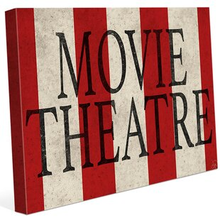Movie Theater Stripes' Textual Art on Wrapped Canvas by Click Wall Art