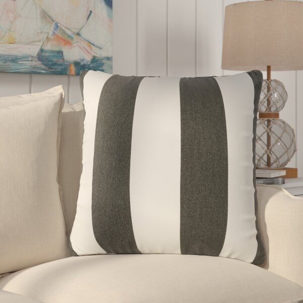 Arusha Sunbrella Knife Edge Cabana Classic Outdoor Throw Pillow (Set of 2) by Rosecliff Heights