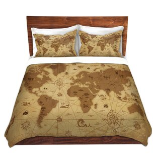 World map bedding wayfair whimsical world map i duvet cover set gumiabroncs Image collections