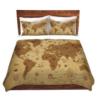 World map bedding sets wayfair whimsical world map i duvet set gumiabroncs Gallery
