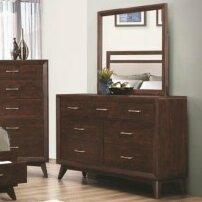 London 7 Drawer Dresser with Mirror by Mercury Row