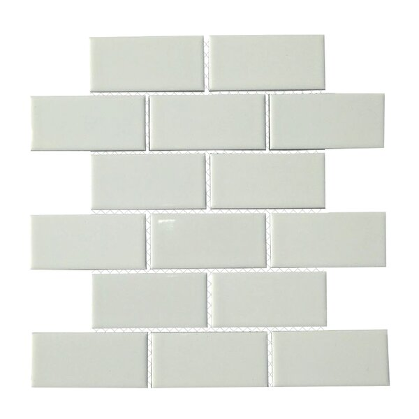 Classique 2 x 4 Porcelain Subway Tile in White by Mulia Tile