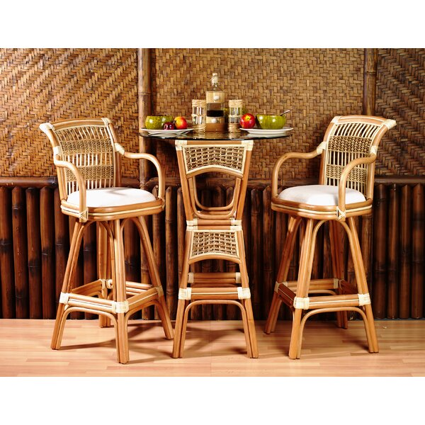 3 Piece Pub Table Set by Spice Islands Wicker Spice Islands Wicker