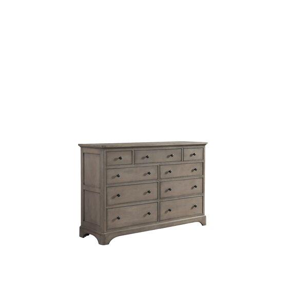Discount Guttenberg 9 Drawer Double Dresser