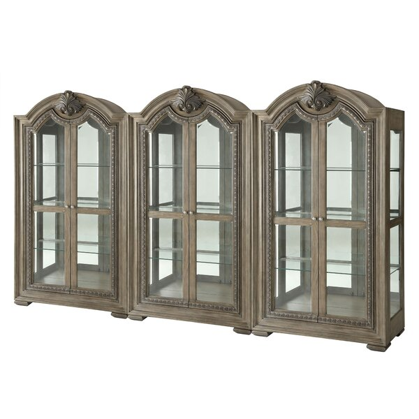 Braddy Lighted Curio Cabinet by Astoria Grand