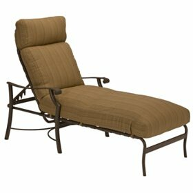 Montreux Reclining Chaise Lounge with Cushion by Tropitone