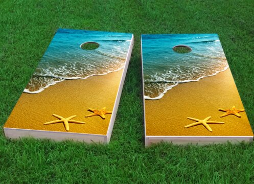 Star Fish Cornhole Game (Set of 2) by Custom Cornhole Boards