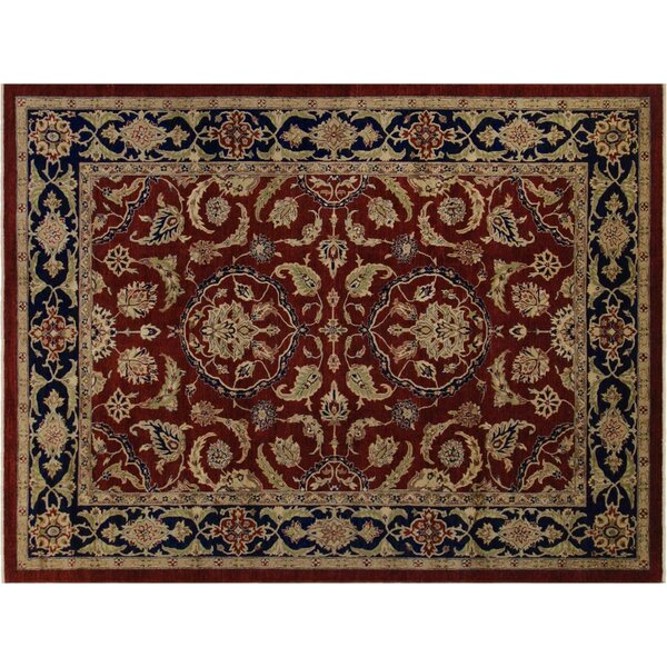 Xenos Traditional Hand-Knotted Wool Red/Blue Area Rug by Astoria Grand
