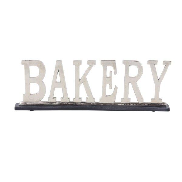 Garzon Modern Metal Kitchen Sign Letter blocks by Gracie Oaks