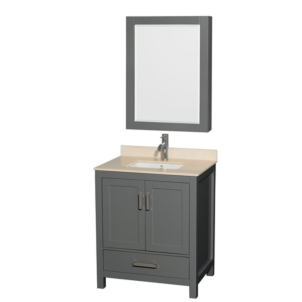 Sheffield 30 Single Bathroom Vanity Set with Medicine Cabinet by Wyndham Collection