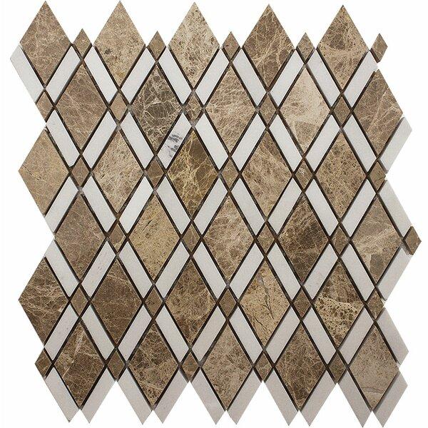 Oceanside Diamond Stone Mosaic Tile in Light by Parvatile