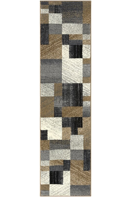 Ebern Designs Kordell Geometric Gray