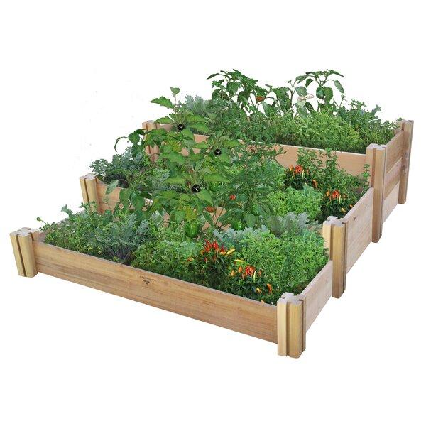 4.5 ft x 4.0 ft Cedar Raised Garden by Gronomics