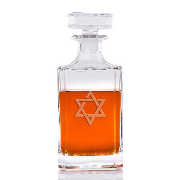 Star of David Classic Square 26 oz. Decanter by The Holiday Aisle