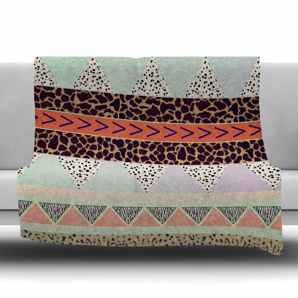 Animal Print by Vasare Nar Fleece Blanket by East Urban Home