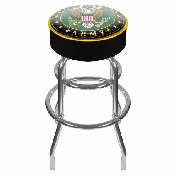U.S. Army 31 Swivel Bar Stool by Trademark Global