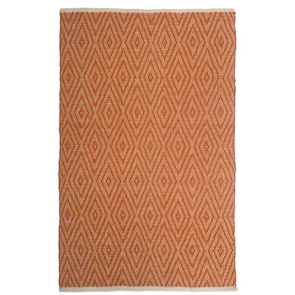 Estate Indoor/Outdoor Hand-Woven Orange Area Rug by Fab Habitat