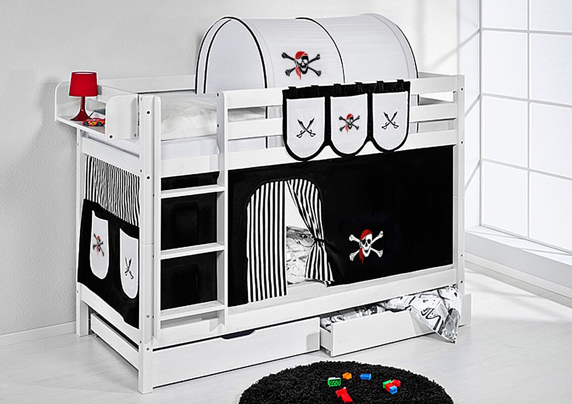 lilokids etagenbett pirat mit vorhang 90 x 200 cm bewertungen. Black Bedroom Furniture Sets. Home Design Ideas