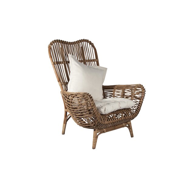 Round Back Rattan Chair by Ibolili