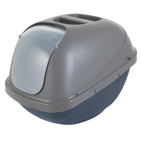 Basic Hooded Standard Litter Box by Petmate