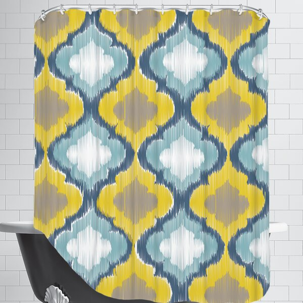 Ikat Shower Curtain by East Urban Home