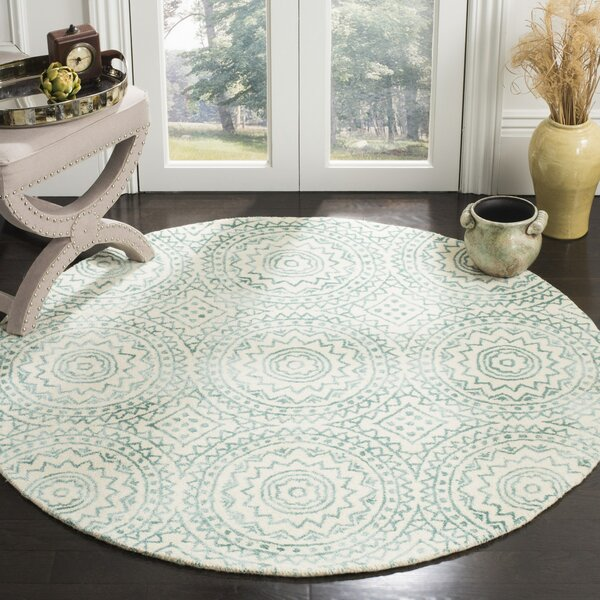Rudra Hand-Tufted Beige/Green Area Rug by Bungalow Rose