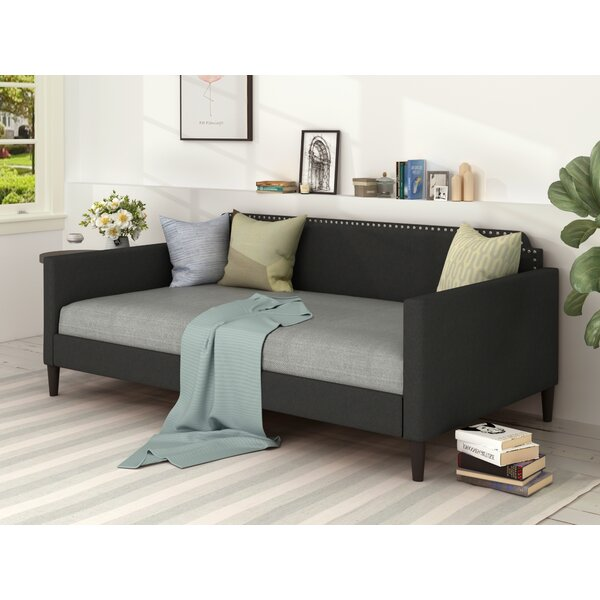 Alcantar Twin Solid Wood Daybed with Trundle by Rosdorf Park Rosdorf Park