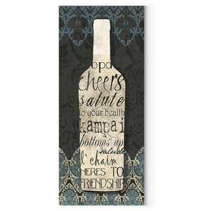 'Wine Collection I' by Carol Robinson Textual Art on Wrapped Canvas by Wexford Home