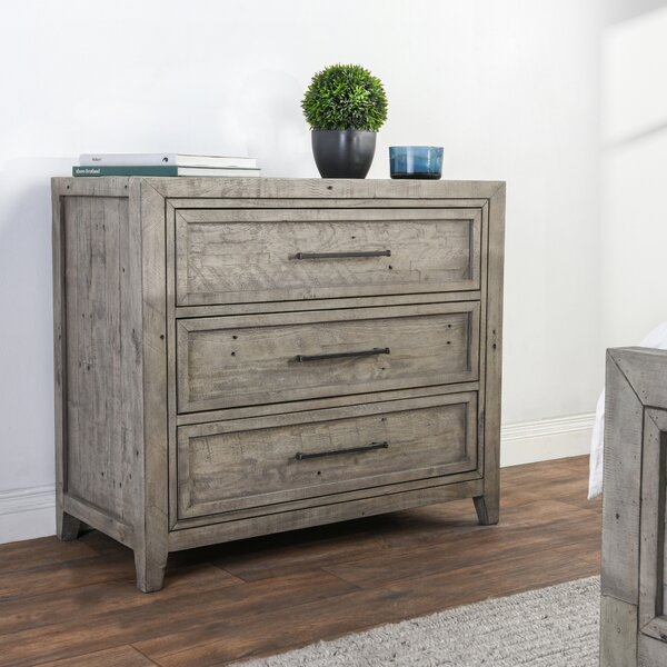 Kimberley Reclaimed Pine 3 Drawer Bachelors Chest by Millwood Pines
