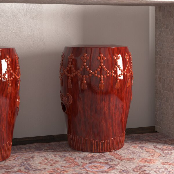 Alonsa Drum Ceramic Garden Stool by Trent Austin Design