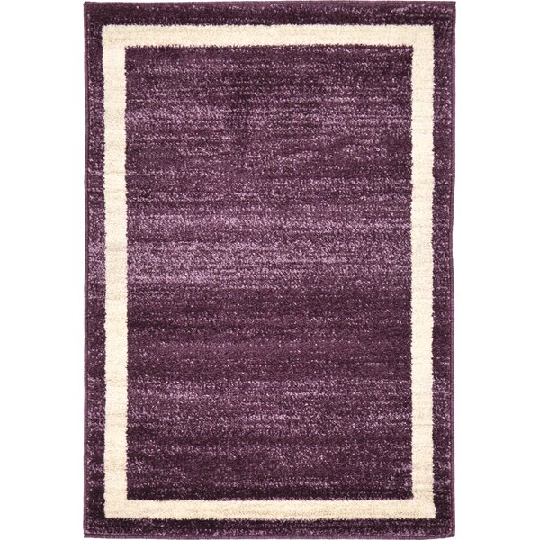 Christi Purple/Beige Area Rug by Orren Ellis