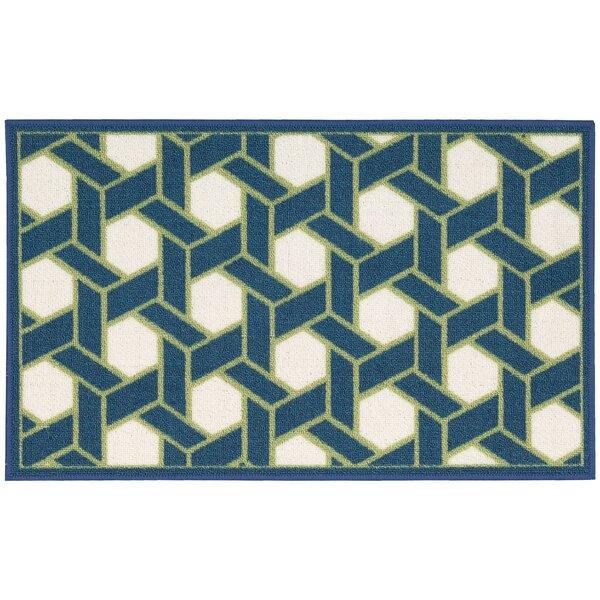 Fancy Free & Easy Shoji Blue/Beige Area Rug by Waverly