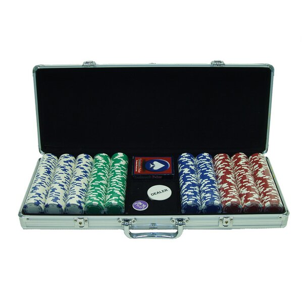500 Piece Holdem Poker Chip by Trademark Global