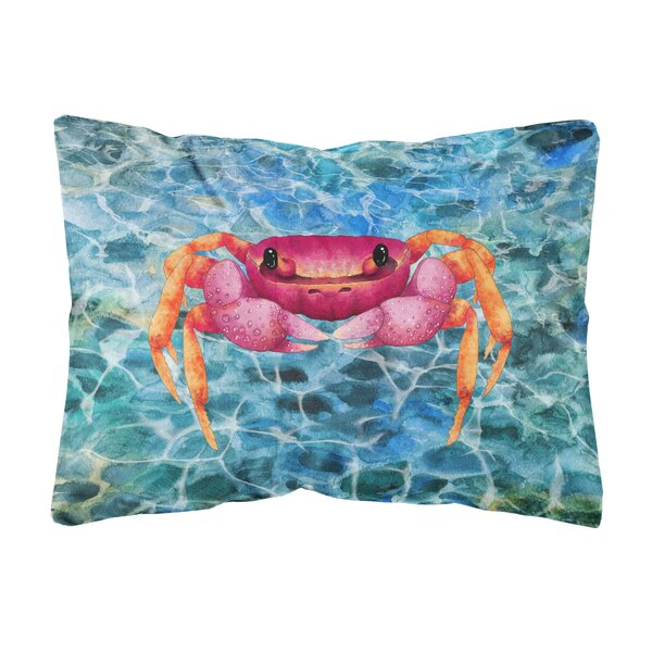 Maisy Crab Indoor/Outdoor Throw Pillow by Highland Dunes
