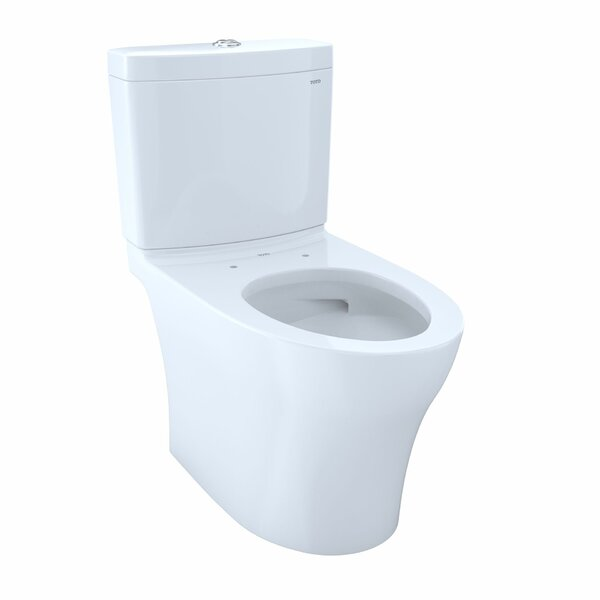 Aquia® IV Dual-Flush Elongated Two-Piece Toilet with High Efficiency Flush (Seat Not Included) by Toto
