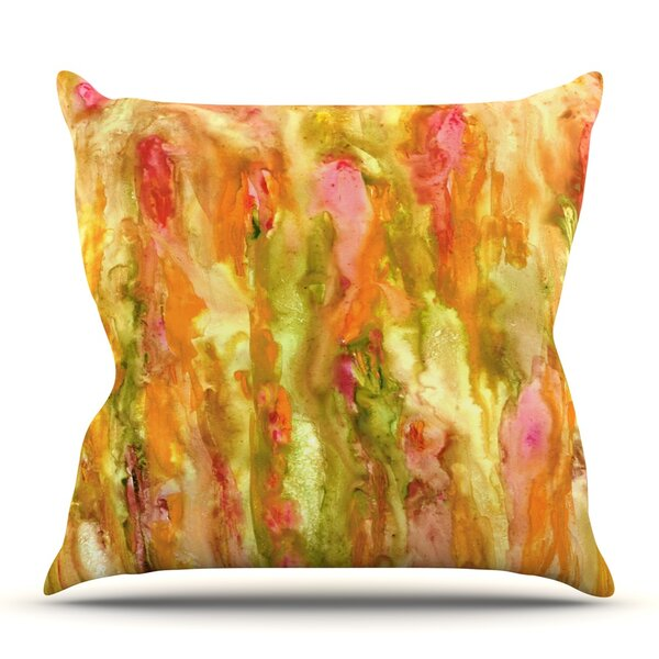 Walk in the Forest by Rosie Brown Outdoor Throw Pillow by East Urban Home