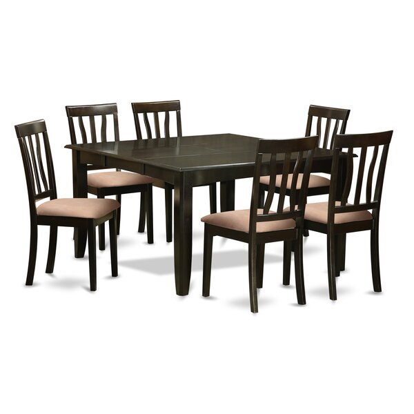 Pilning 7 Piece Extendable Solid Wood Dining Set by August Grove