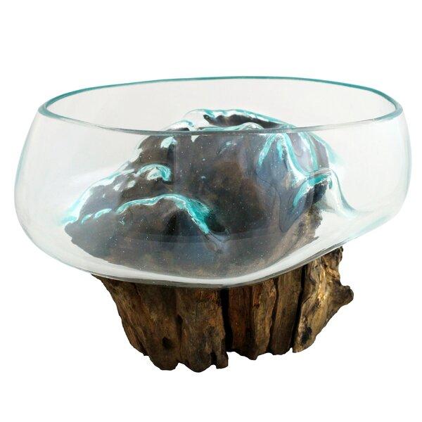 Alcalde Molten Glass Full Open Top Sculpture by Loon Peak